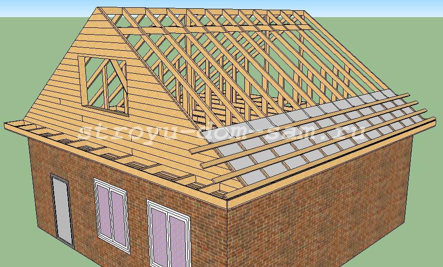Крыша В Частном Доме Своими Руками Пошаговая Инструкция С Фото - фото 10