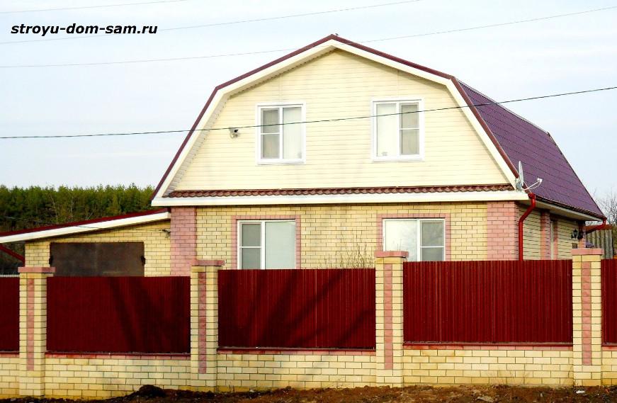 Крыши домов фото двухскатная