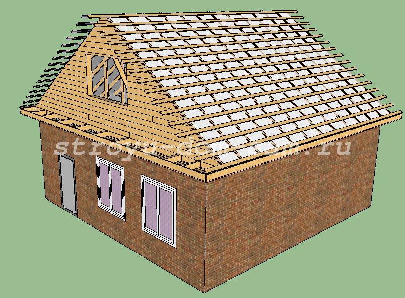Установка металлочерепицы для крыши