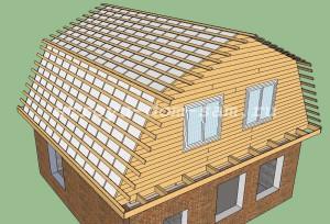 обрешетка ломаной крыши