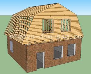 обшивка фронтона ломаной крыши