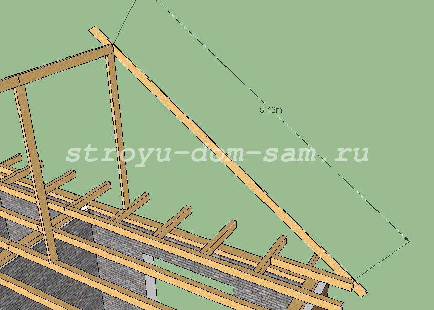 Как построить двухскатную крышу дома своими руками