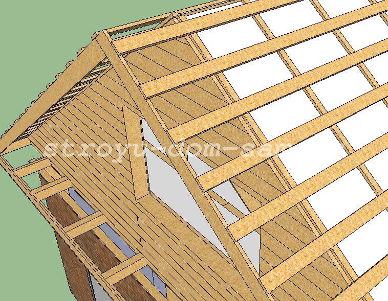 Как сделать деревянную двускатную крышу 6