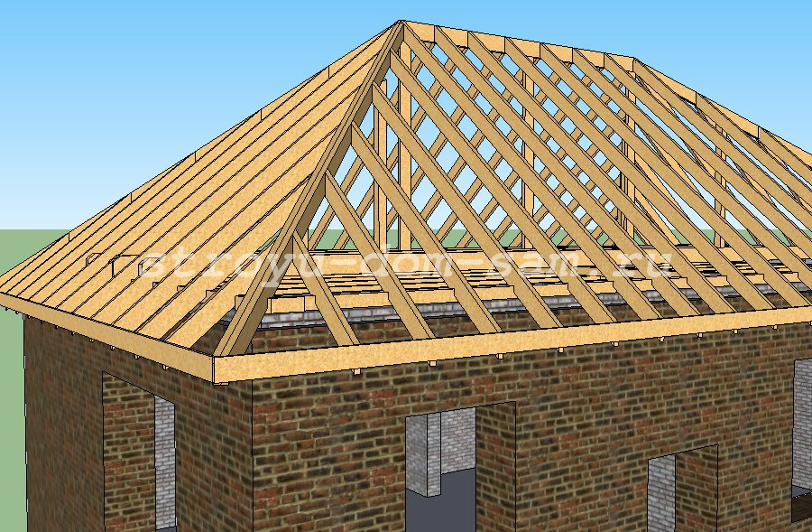 Делаем крышу дома своими руками