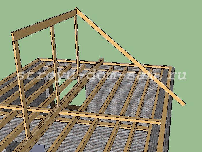 Установка четырехскатной крыши своими руками 926