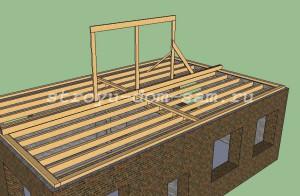 скамья вальмовой крыши