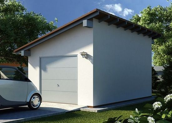 односкатная крыша с выносом мауэрлата