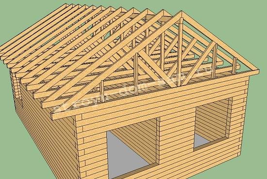 крыша с наслонными стропилами