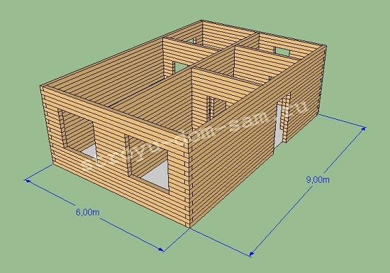 коробка дома из бруса
