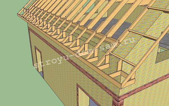 Как сделать каркас карниза крыши - OndoShop.ru