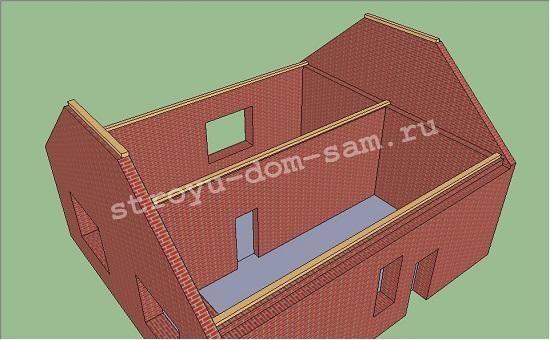 фронтоны полувальмовой крыши
