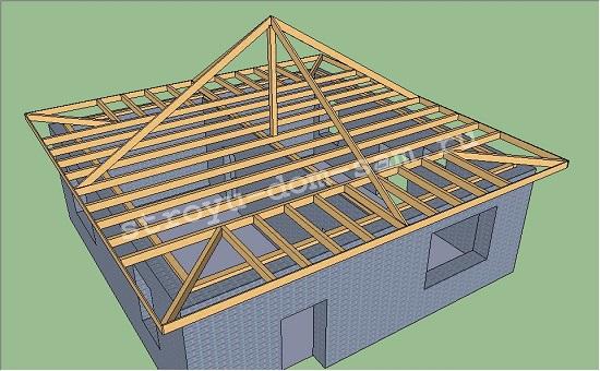 угловые выноса и ветровые доски шатровой крыши